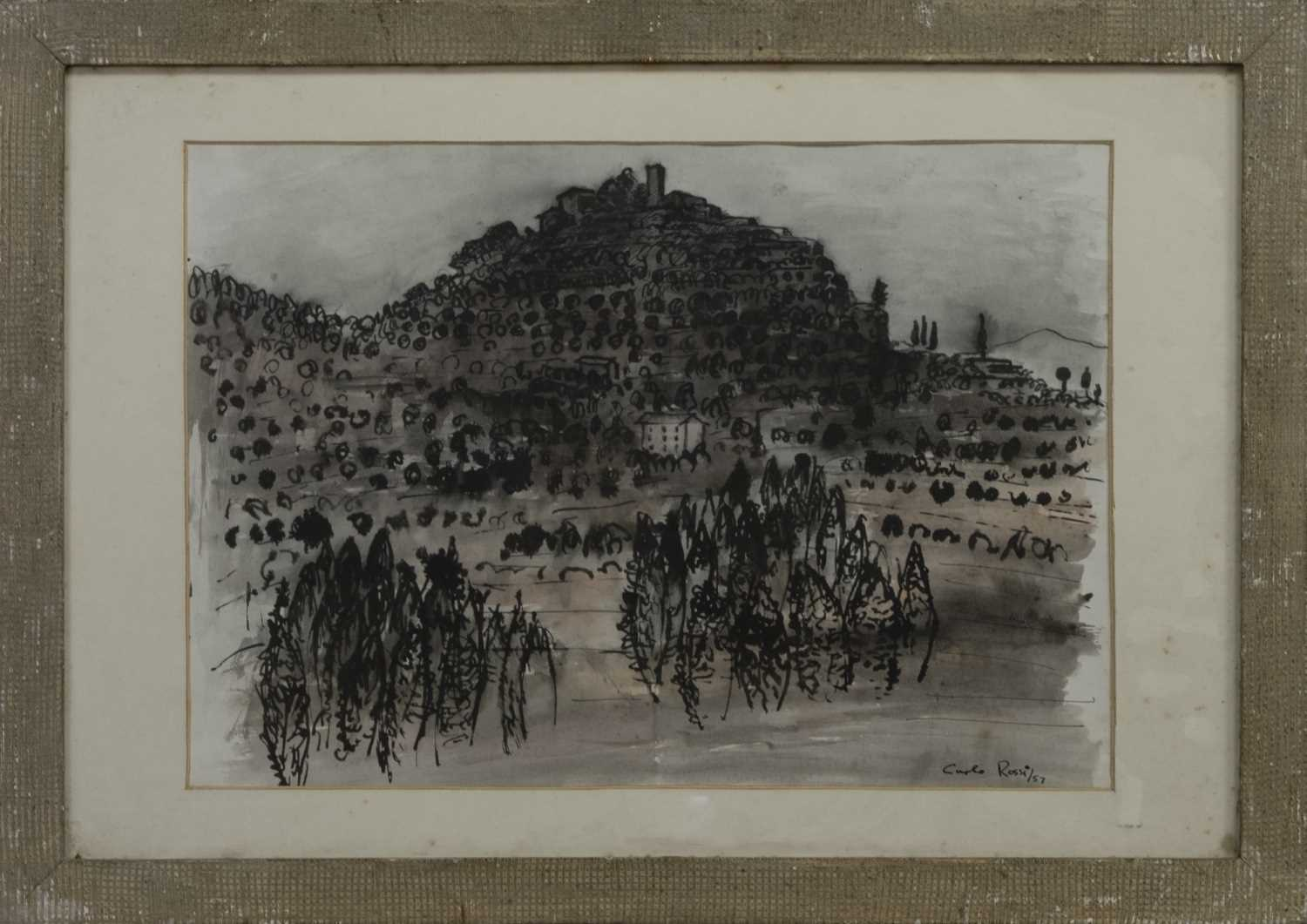 Lot 569 - AN UNTITLED WATERCOLOUR BY CARLO ROSSI
