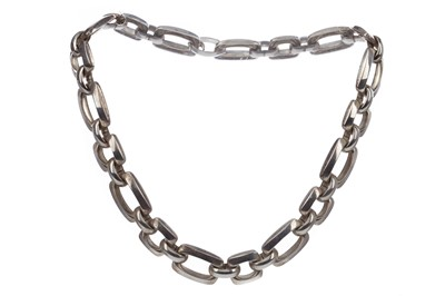 Lot 343 - A SILVER NECKLET BY GROSSE OF GERMANY