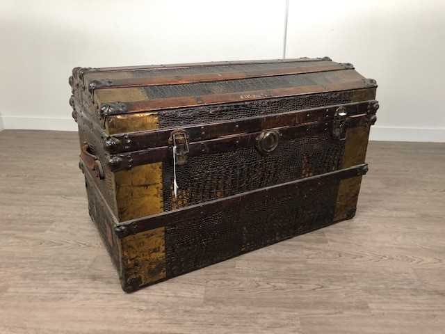 Lot A LATE 19TH CENTURY CABIN TRUNK