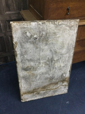 Lot 286 - A PAINTED STUCCO PANEL
