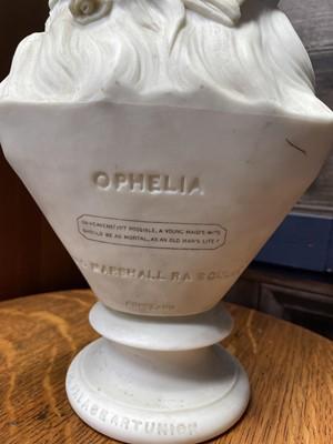 Lot 291 - A COPELAND BISQUE PORCELAIN BUST OF OPHELIA