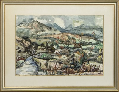 Lot 435 - KINTAIL, A WATERCOLOUR BY WILLIAM CHALMERS BROWN