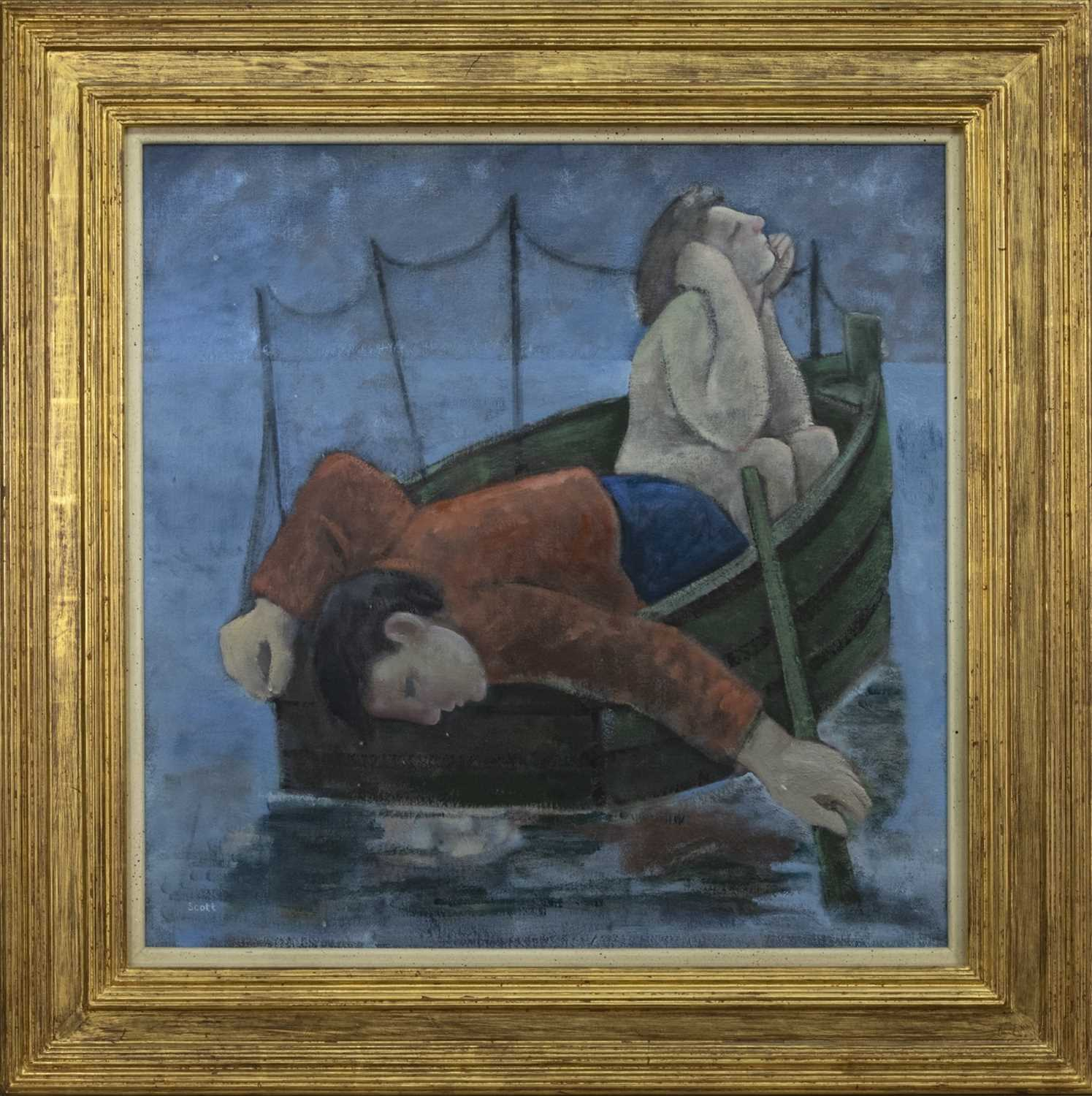 Lot 599 - ECHO & NARCISSUS, AN OIL BY MICHAEL SCOTT