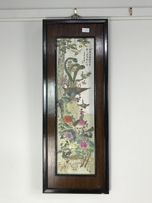 Lot A LOT OF TWO DECORATIVE CHINESE CERAMIC PANELS