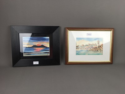 Lot A LOT OF TWO WATERCOLOURS ALONG WITH AN ACRYLIC PAINTING