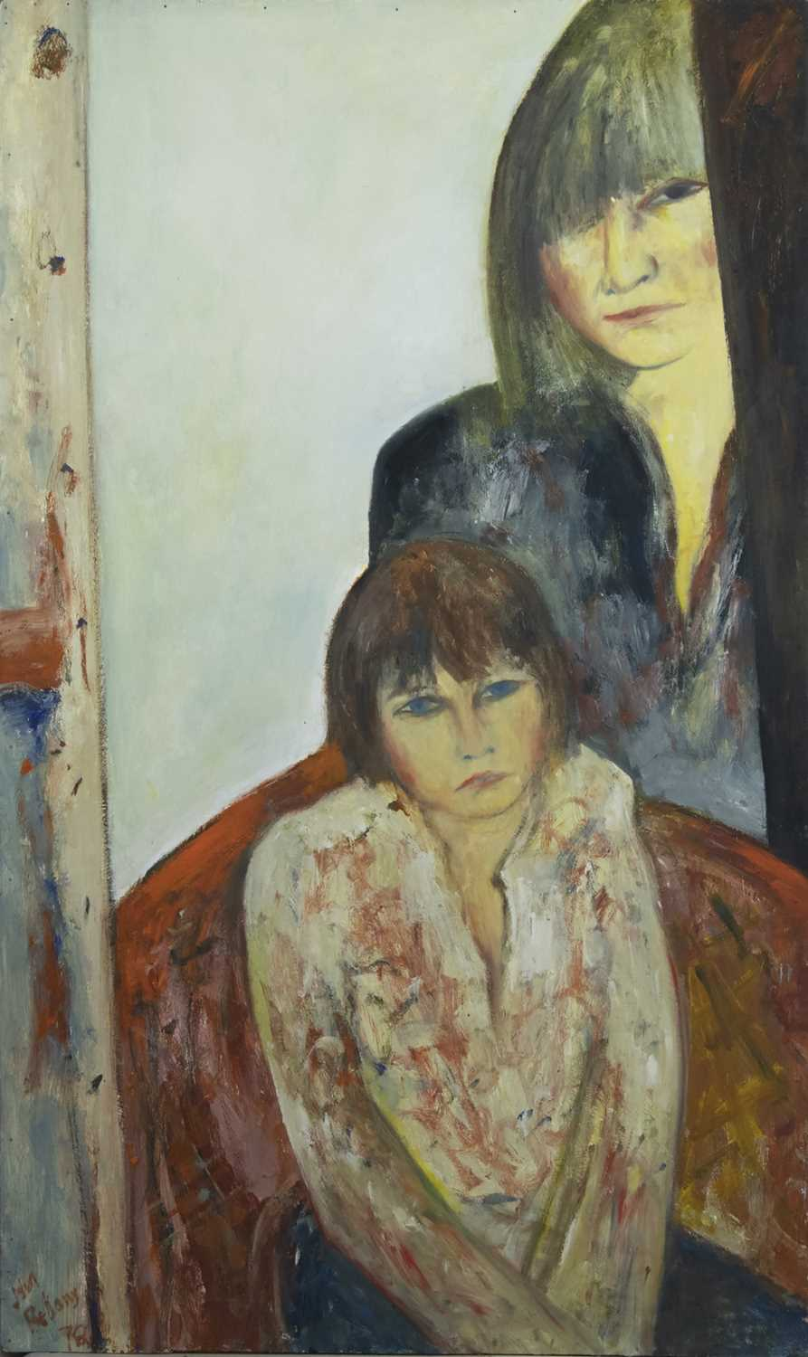 Lot 604 - THE PORTRAIT OF JULIET AND DAVID, A PORTRAIT BY JOHN BELLANY