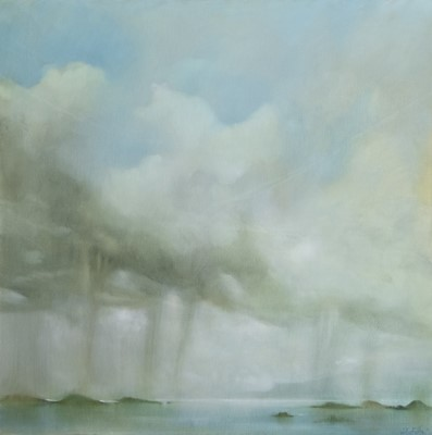 Lot 613 - RAIN OVER THE ISLANDS, AN OIL BY WILLIE FULTON