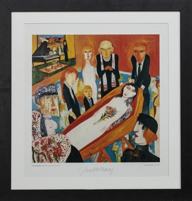 Lot 611 - CHINESE REQUIEM, A LITHOGRAPH BY JOHN BELLANY