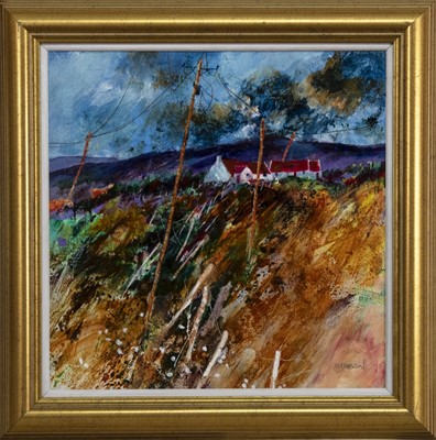 Lot 631 - HIGH WIRE, A MIXED MEDIA BY DOUGLAS MATHESON