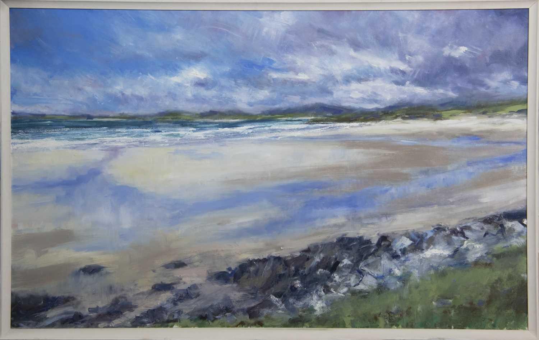 Lot 622 - HORGABOST BEACH, ISLE OF HARRIS, AN OIL BY JONATHAN SHEARER