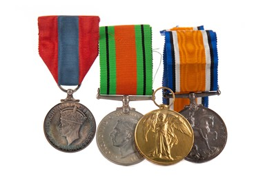 Lot 1308 - A WWI WAR & VICTORY MEDAL DUO