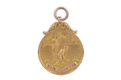 Lot 1705 - THE BUTE COUNTY CUP GOLD BOWLING MEDAL 1928