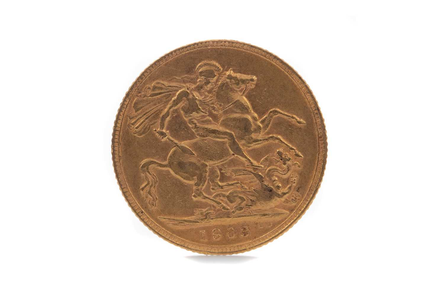 Lot 13 - AN EDWARD VII GOLD SOVEREIGN DATED 1903