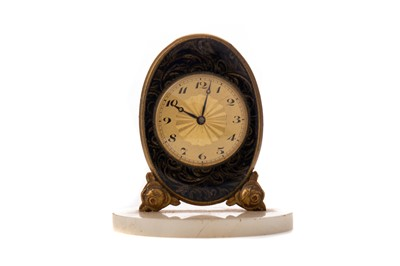 Lot 1118 - A LATE 19TH / EARLY 20TH CENTURY SWISS TRAVELLING TIMEPIECE