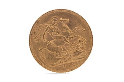 Lot 16 - AN EDWARD VII SOVEREIGN DATED 1906