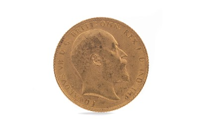 Lot 17 - AN EDWARD VII GOLD SOVEREIGN DATED 1906