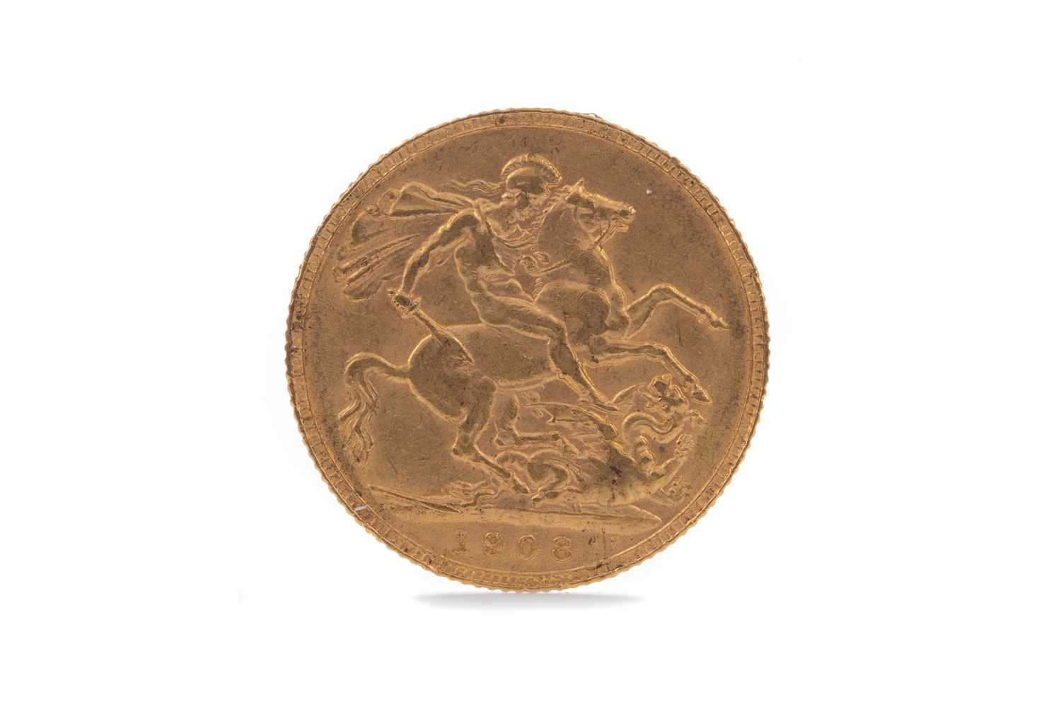 Lot 20 - AN EDWARD VII GOLD SOVEREIGN DATED 1908