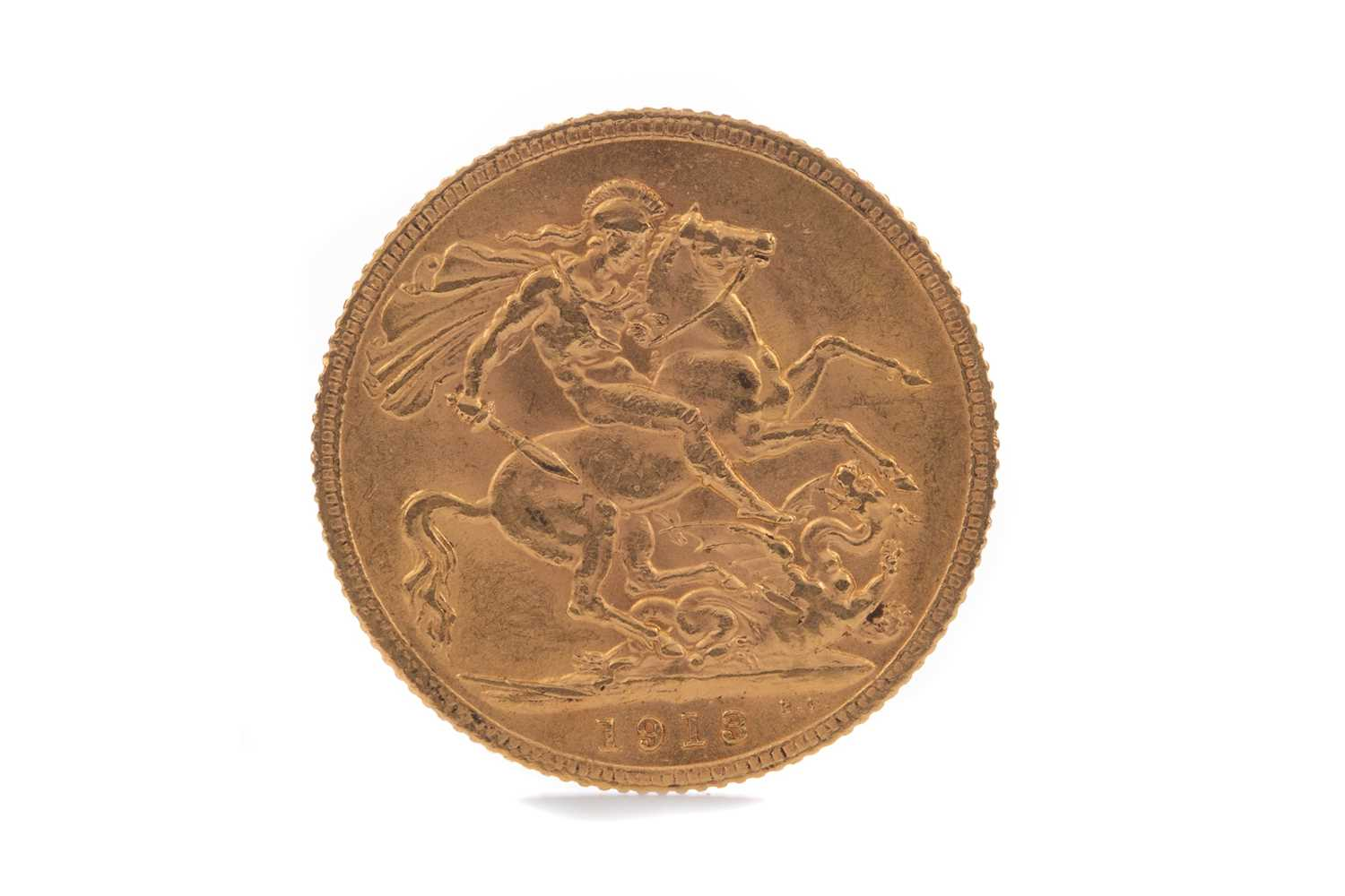 Lot 24 - A GEORGE V GOLD SOVEREIGN DATED 1913