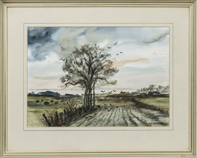 Lot 439 - IN THE FIELD, A WATERCOLOUR BY H F MITCHELL