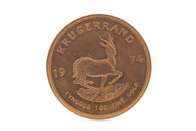 Lot 42 - A GOLD KRUGERRAND DATED 1974