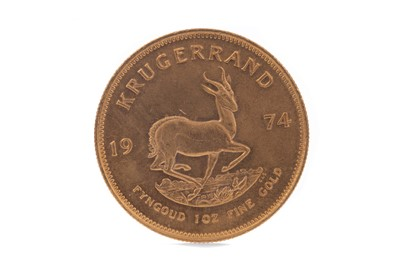 Lot 48 - A GOLD KRUGERRAND DATED 1974