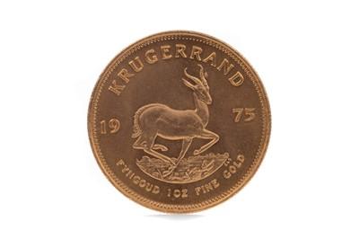 Lot 62 - A GOLD KRUGERRAND DATED 1975