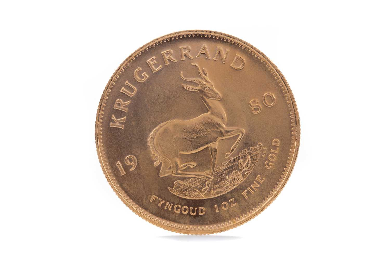 Lot 65 - A GOLD KRUGERRAND DATED 1980