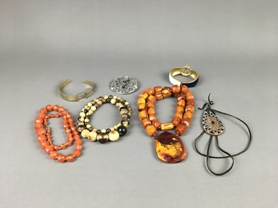 Lot A GROUP OF COSTUME JEWELLERY