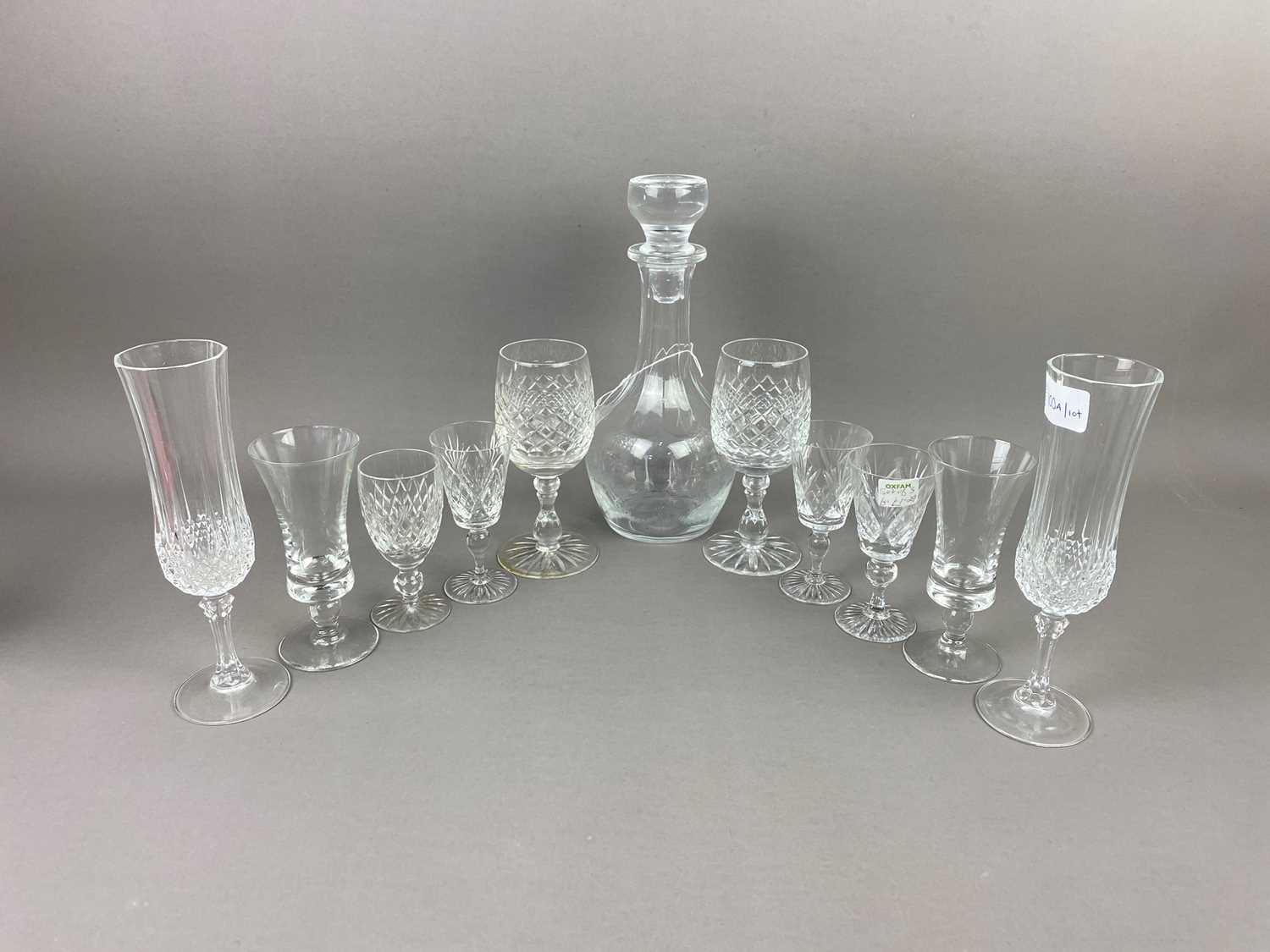 Lot 100 - A LOT OF CRYSTAL AND GLASS WARE
