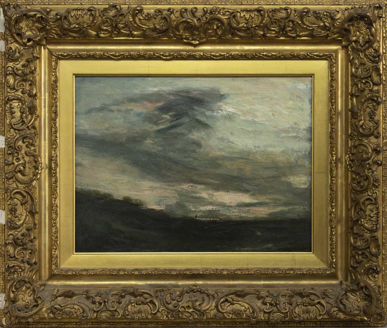 Lot 85 - LOCH SCENE, AN OIL BY SIR JAMES LAWTON WINGATE