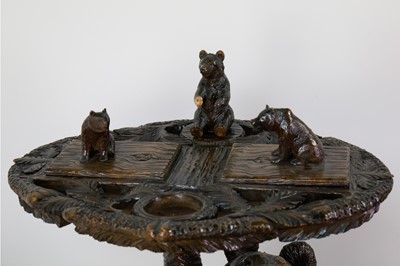 Lot A GOOD BLACK FOREST SMOKING TABLE