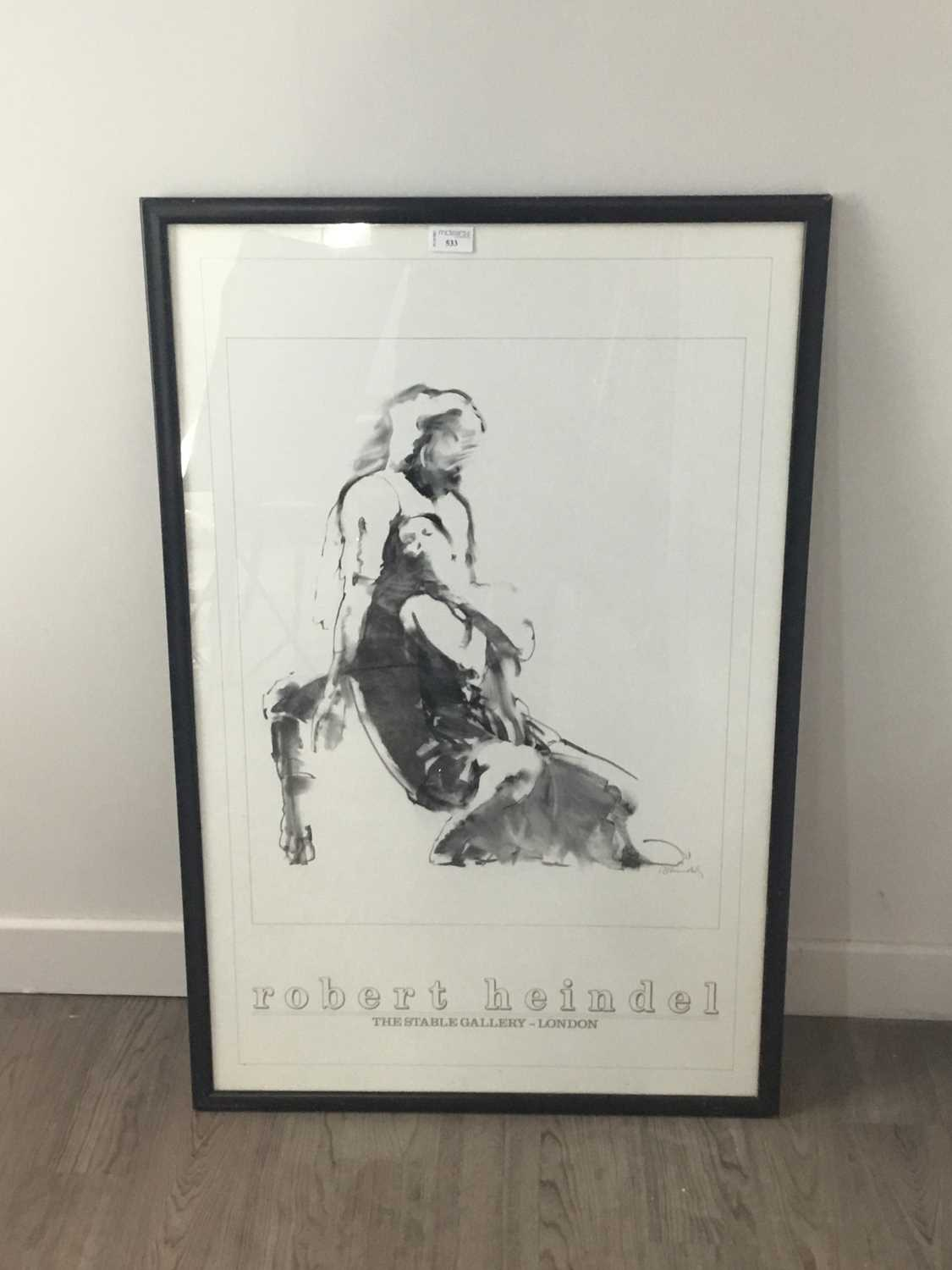 Lot 533 - A ROBERT HEINDEL STABLE GALLERY LONDON EXHIBITION POSTER