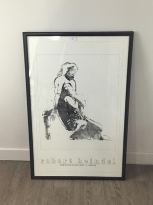 Lot A ROBERT HEINDEL STABLE GALLERY LONDON EXHIBITION POSTER