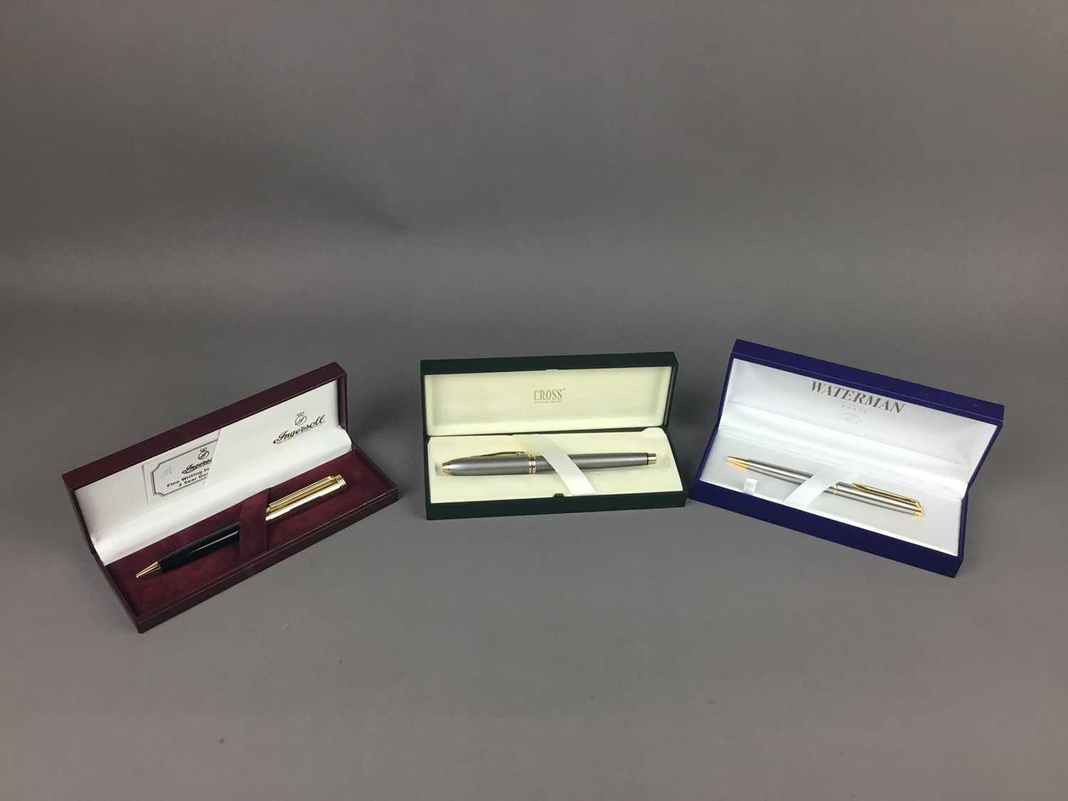 Lot 539 - A CROSS FOUNTAIN PEN AND TWO OTHERS