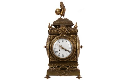 Lot 1133 - A LARGE 19TH CENTURY FRENCH EIGHT DAY MANTEL CLOCK