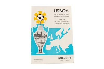 Lot 1753 - CELTIC VS. INTER MILAN 1967 EUROPEAN CUP FINAL PROGRAMME