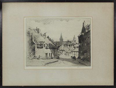 Lot 447 - TWO ETCHINGS AND A WATERCOLOUR