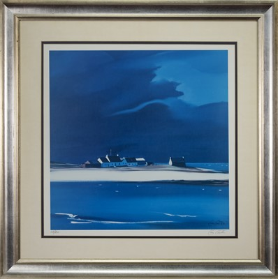 Lot 643 - THE ROW - TIREE, A LIMITED EDITION PRINT BY PAM CARTER
