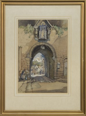 Lot 88 - ARCHWAY, A WATERCOLOUR BY WILLIAM EDNIE ROUGH