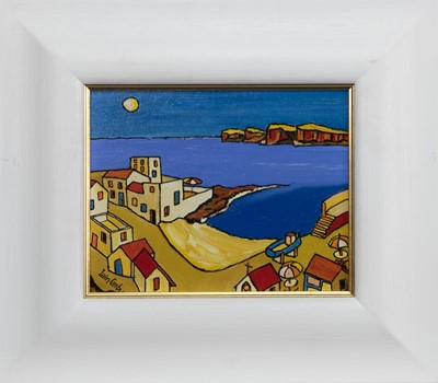 Lot 659 - PUERTO SANTIAGO (TENERIFFE), AN OIL BY IAIN CARBY