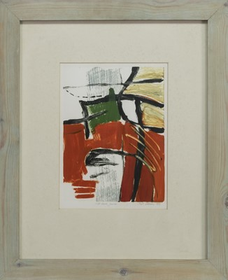 Lot 676 - RED HOT JUICE, A MONOTYPE BY MELANIE STOKES