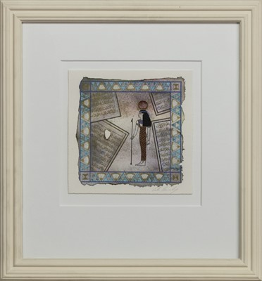 Lot 677 - PAST AND PRESENT, A MIXED MEDIA BY VICKY CASSIDY