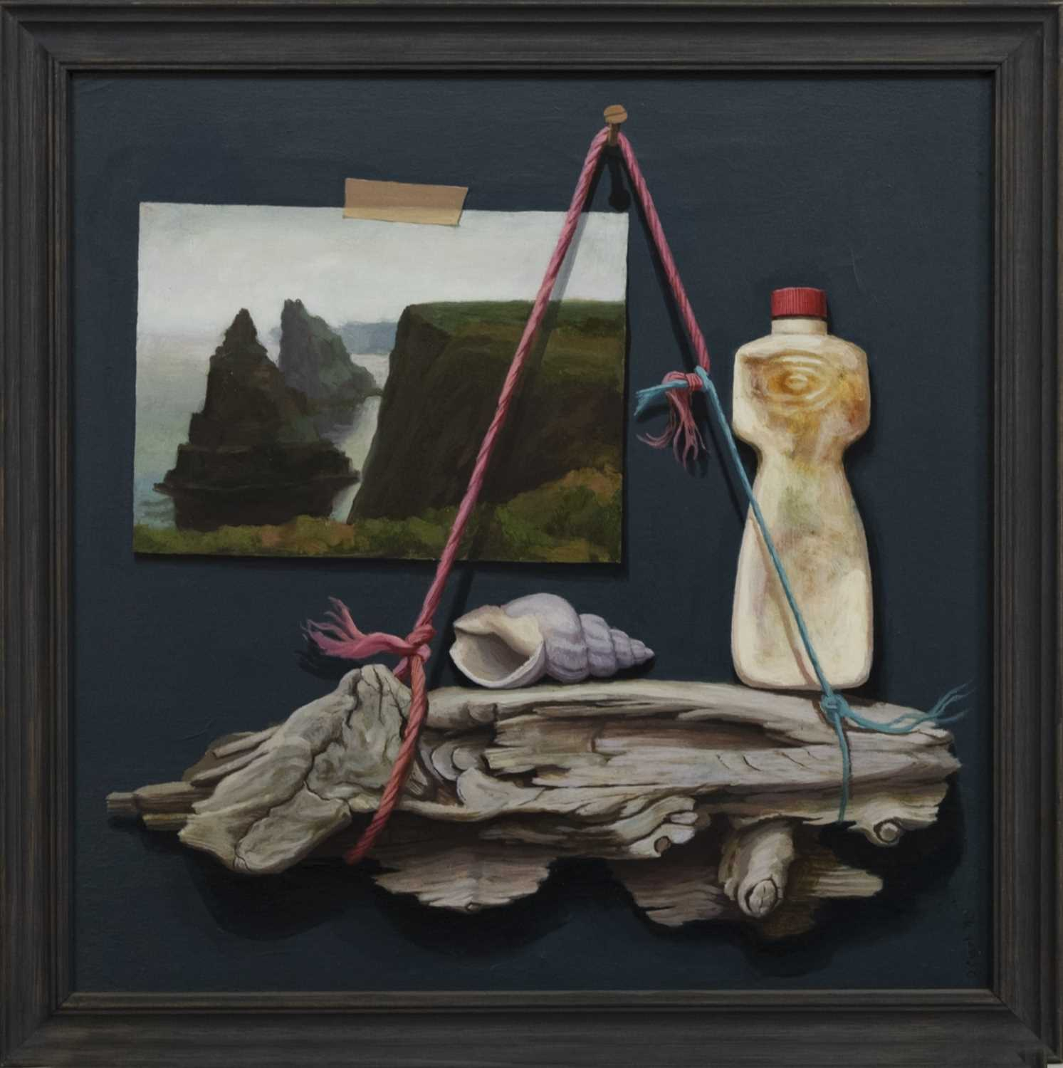 Lot 679 - DUNCANSBY HEAD, AN OIL BY DONALD CLARK