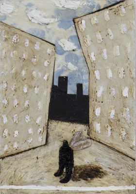 Lot 680 - HIGH RISE, A MIXED MEDIA BY CLAYTON TREMLETT