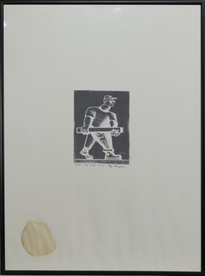 Lot 682 - NEW YORK, THREE COLLAGRAPHS BY ALLY THOMPSON