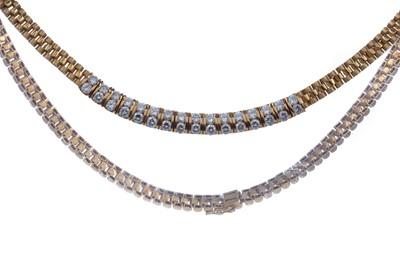 Lot 306 - A DIAMOND NECKLET