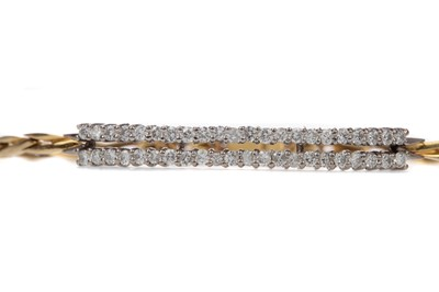 Lot 308 - A DIAMOND BRACELET