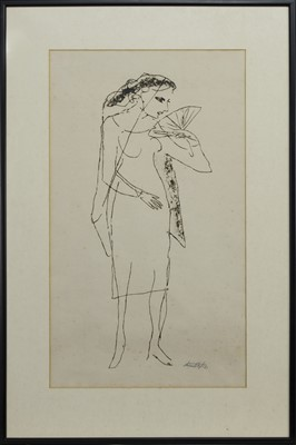 Lot 685 - FEMALE WITH FIN, AN ETCHING BY ELI MONTLAKE
