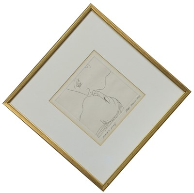 Lot 691 - KISS LIKE A BUTTERFLY, AN ETCHING BY PETER COLLINS