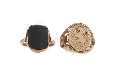 Lot 375 - TWO GOLD RINGS